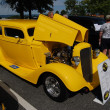 "Stock Photo: 1934 Yellow Chevy 2 Door SedStreet Rod with 3"" Chop"