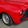 Stock Photo: 1941 Red Chevy Coupe Front Detail