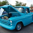 Blue Vintage Ford Truck Front — Stock Photo #14310747