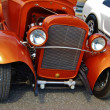 Stock Photo: 1936 Orange Ford Classic Car Front View