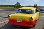 1960 Classic Yellow Car Rear view — Stock Photo