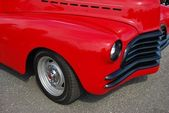 1941 Red Chevy Coupe Front Detail — Stock Photo