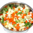 Various chopped vegetables in a pot — Stock Photo
