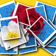 Stock Photo: Single blossom colorful, modern, abstract set in scene