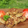 Fresh fried meatball — Stock Photo