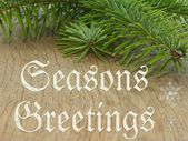 Bright festive background with writing as a Christmas card — Stock Photo
