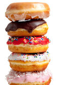 Assorted Donuts on white — Stock Photo