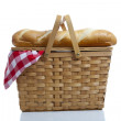 Picnic Basket with Gingham — Stock Photo #13382981