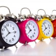 图库照片: Colofful Alarm Clocks