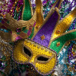 Stock Photo: Mardi Gras Mask and Beads