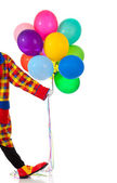 A Clown holding ballons — Stock Photo