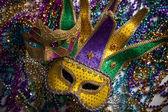 Perles et masque de mardi gras — Photo