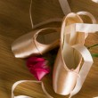 Ballet Shoes and Rose — Stock Photo #13397841