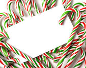 Chrismas Candy Cane Notecard or Invitation — Stock Photo