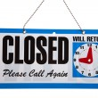 Closed Sign on a white background — Stock Photo #13400213