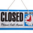 Closed Sign on a white background — Stock Photo