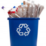 Papelera de reciclaje — Foto de Stock