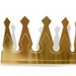 Golden Paper Crown — Stock Photo