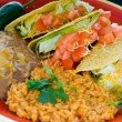 Colorful Mexican food plate - Stock Photo