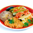 Stock Photo: Colorful Mexicfood plate