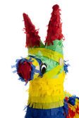A traditional Mexican Pinata on White — Stock Photo