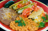 Colorful Mexican food plate — Stock Photo