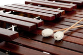 Marimba with mallets — Stock Photo