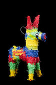 Pinata on a black background — Stock fotografie