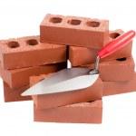Bricks and a mason's trowel — Stock Photo #13411033
