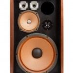 Vintage stereo speaker on a white background — Stock Photo #13415364