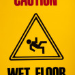 Wet floor sign - Stock Photo