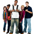 Group of multi-racial college students - Stock Photo