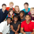 Stock Photo: Group of multi-racial college students
