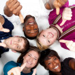 Faces of smiling Multi-racial college students — Stock Photo #13446650