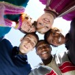 Foto Stock: Faces of smiling Multi-racial college students