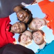 Faces of smiling Multi-racial college students - Foto de Stock