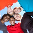Faces of smiling Multi-racial college students — Stock Photo