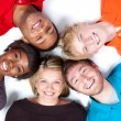 Stock Photo: Close-up faces of Multi-racial college students
