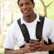 Stock Photo: African American College Student smiling