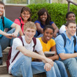 A group of multicultural college students, friends — Stock Photo #13624953