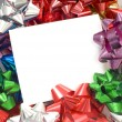 Stock Photo: Christmas Bow Notecard