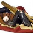 Stock Photo: Vintage Baseball Gear