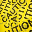 Stock Photo: Caution Tape Background
