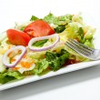 Tossed salad on a plate on a white background — Stock Photo #13625222