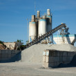 Concrete manufacturing processing plant — Stock Photo