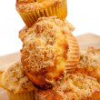A stack of Cinnamon streusel muffins — Stock Photo