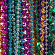 Background of mardi gras beads — Zdjęcie stockowe