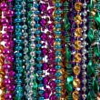 Background of mardi gras beads — Stock fotografie