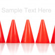 Orange safety cones on white — Stock Photo
