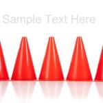 Orange safety cones on white — Stock Photo #13625618